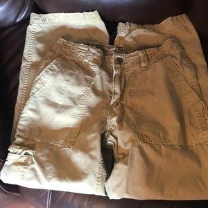 American Eagle khaki cargo pants